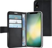 Azuri Wallet iPhone XR hoesje Zwart