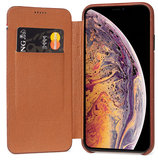 Decoded Leather Slim Wallet iPhone XS Max hoes Bruin