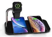 ZENS Dual + Watch Aluminium draadloze oplader 20 watt Zwart