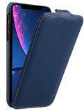 Melkco Leather Jacka iPhone XR hoesje Blauw