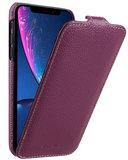 Melkco Leather Jacka iPhone XR hoesje Paars