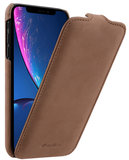 Melkco Leather Jacka iPhone XR hoesje Lichtbruin