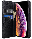 Melkco WalletBook iPhone XS Max hoesje Zwart
