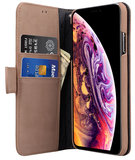 Melkco WalletBook iPhone XS Max hoesje Bruin