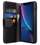 Melkco Leather WalletBook iPhone XR hoesje Zwart