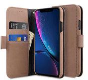 Melkco Leather WalletBook iPhone XR hoesje Bruin