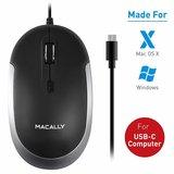 MacAlly UCDYNAMOUSE Optische USB-C muis Grijs