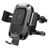 Baseus Smart  Vent draadloze oplader autohouder Zwart