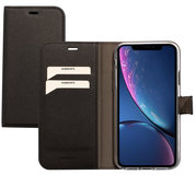 Mobiparts Saffiano Wallet iPhone XR hoesje Zwart