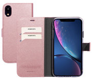 Mobiparts Saffiano Wallet iPhone XR hoesje Roze