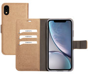 Mobiparts Saffiano Wallet iPhone XR hoesje Copper