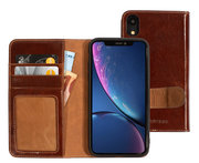 Mobiparts Excellent Wallet iPhone XR hoesje Cognac