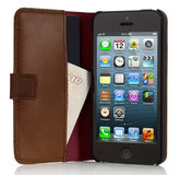 Pipetto Leather Folio iPhone SE/5S hoesje Brown