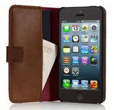 Pipetto Leather Folio iPhone SE/5S hoesje Brown