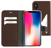 Mobiparts Classic Wallet iPhone XS / X hoesje Bruin