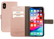 Mobiparts Saffiano Wallet iPhone XS / X hoesje Rose
