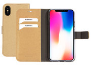 Mobiparts Saffiano Wallet iPhone XS / X hoesje Goud