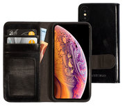 Mobiparts Excellent Wallet iPhone XS / X hoesje Zwart