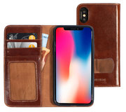 Mobiparts Excellent Wallet iPhone XS / X hoesje Cognac
