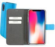 Mobiparts Premium Wallet iPhone XS / X hoesje Blauw