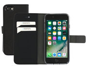 Mobiparts Saffiano Wallet iPhone 8 / 7 hoesje Zwart