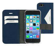 Mobiparts Classic Wallet iPhone SE / 5S hoesje Blauw