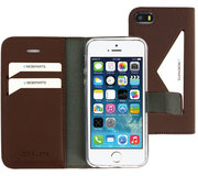 Mobiparts Classic Wallet iPhone SE / 5S hoesje Bruin