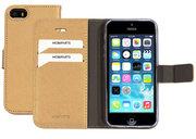 Mobiparts Saffiano Wallet iPhone SE / 5S hoesje Goud