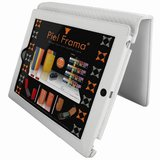 Piel Frama iPad 2 Magnetic White