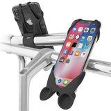 Bone Bike Tie Speaker universele telefoon fietshouder Zwart