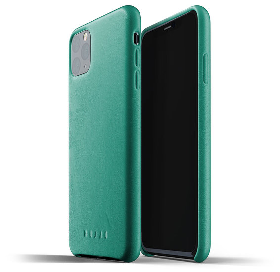 Mujjo Leather case iPhone 11 Pro Max hoes Groen