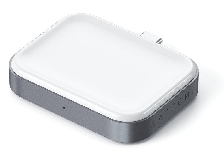 Satechi aluminium AirPods draadloos USB-C oplaaddock