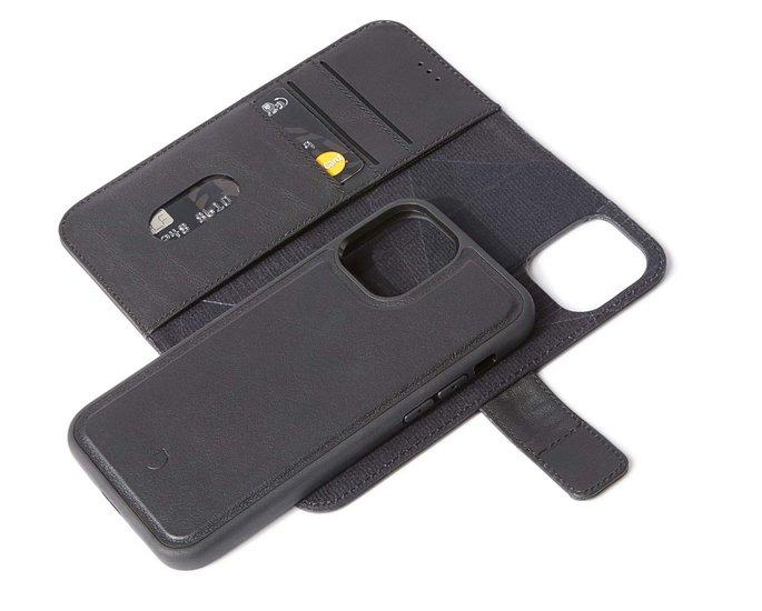 Decoded Leather 2 in 1 Wallet iPhone 12 Pro / iPhone 12 hoesje Zwart