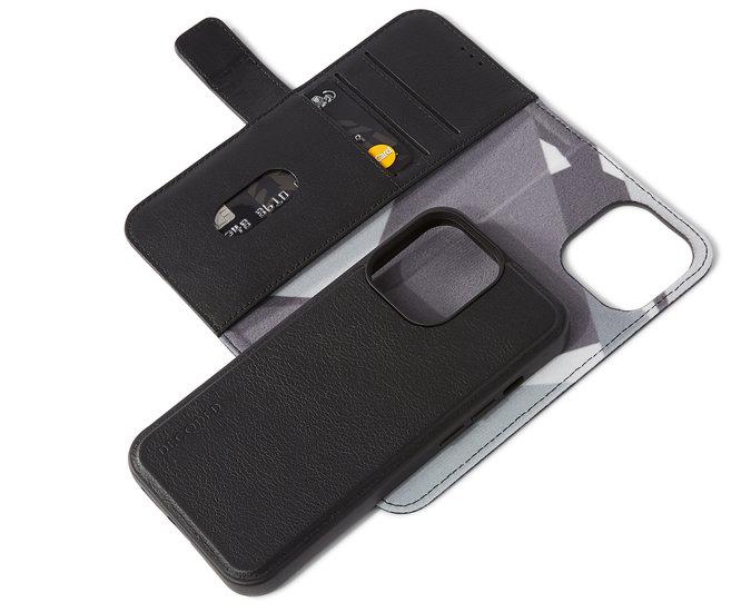 Decoded Leather 2 in 1Wallet iPhone 13 Pro hoesje Zwart