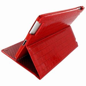 Piel Frama Cinema iPad 2 Croco Red