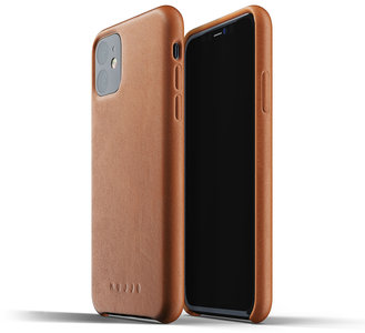 Mujjo Leather case iPhone 11 Pro Max hoes Bruin