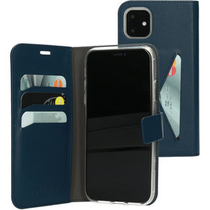 Mobiparts Classic Wallet iPhone 11 hoesje Blauw