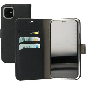 Mobiparts Saffiano Wallet iPhone 11 hoesje Zwart