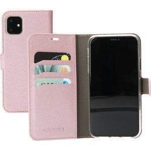 Mobiparts Saffiano Wallet iPhone 11 hoesje Roze