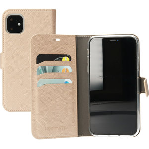 Mobiparts Saffiano Wallet iPhone 11 hoesje Copper