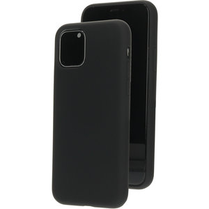 Mobiparts Silicone iPhone 11 Pro hoesje Zwart