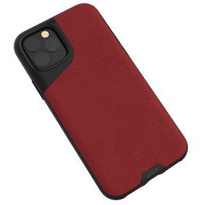 Mous Contour Leather iPhone 11 Pro Max hoes Rood