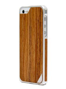 Patchworks Alloy x Wood bumper iPhone 5/5S Teak Silver
