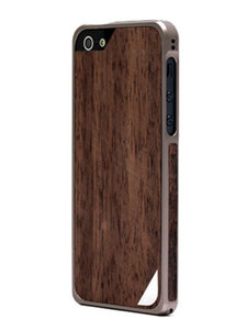 Patchworks Alloy x Wood bumper iPhone 5/5S Ebony Titanium