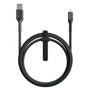 Nomad USB-A Rugged Lightning 1,5 meter kabel Zwart