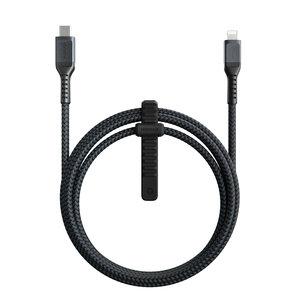 Nomad USB-C Rugged Lightning 1,5 meter kabel Zwart