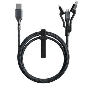 Nomad USB-A Kevlar Universele 1,5 meter kabel Zwart