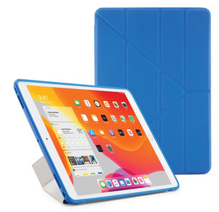 Pipetto Origami TPU iPad 2019 10,2 inch hoesje Blauw