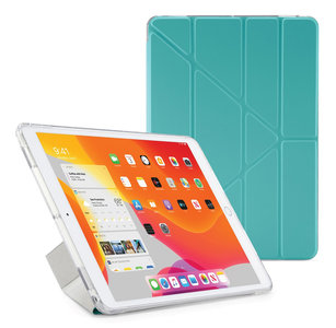 Pipetto Origami TPU Luxe iPad 2019 10,2 inch hoesje Turquoise
