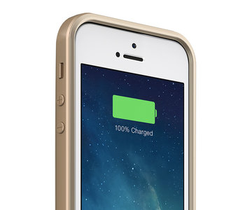 mophie Juice Pack Air case iPhone 5S 1700 mAh Gold